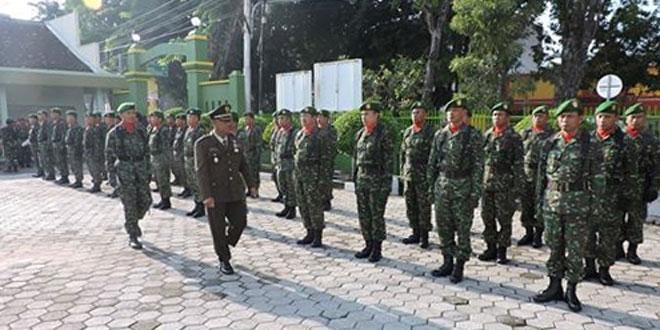 Kodim 0717 Purwodadi Gelar Upacara HUT TNI Secara Sederhana