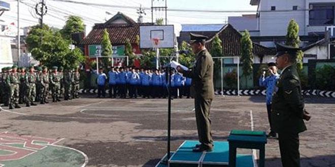 Kodim 0728/Wonogiri Gelar Upacara HUT Ke-71 TNI dan HUT Kodam IV/Diponegoro Ke-66 Secara Sederhana