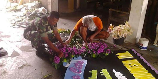 Babinsa Kotabaru Koramil 03/Gondokusuman Bantu Masyarakat di Bidang Kerajinan