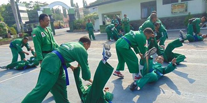 Latihan Yongmoodo Perkuat Prajurit Kodim 0720/Rembang