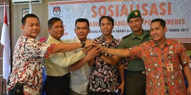Sosialisasi Kepada Keluarga TNI/Polri Brebes Dalam Pemilukada Bupati dan Wakil Bupati Brebes Tahun 2017