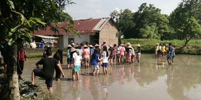 Babinsa Pandowoharjo SMP Colombo Outbond di Dusun Brayut