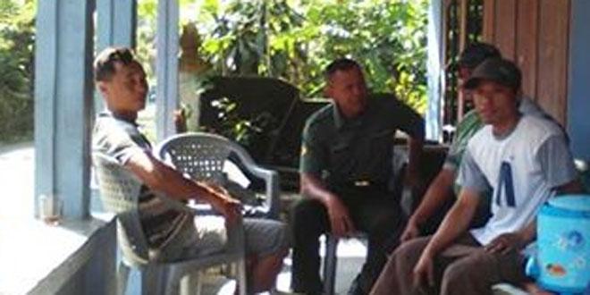 Babinsa Pondokrejo Himbau Warga Waspadai Cuaca Extrim