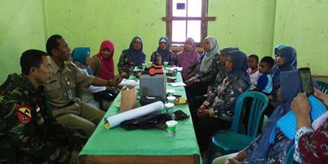 Babinsa Mento Ramil 05/Candiroto Pendampingan Verivikasi Pembantu Bidan Desa