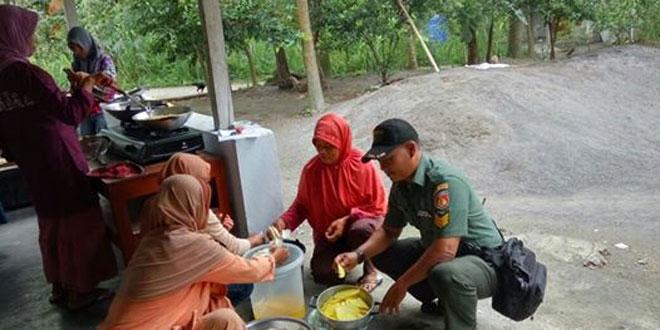 Babinsa Kepuharjo Berikan Motivasi Ibu-Ibu PKK Dusun Kopeng