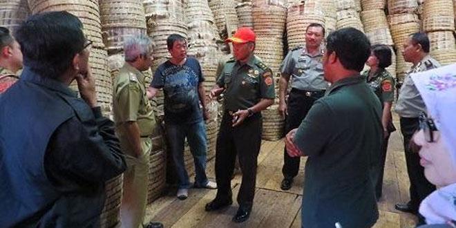 Kunker Setjen Wantanas ke Wilayah Kodim Temanggung