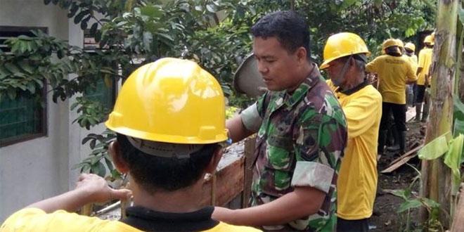 Babinsa Pandowoharjo Koramil 05/Sleman Dampingi Pembekalan dan Sertifikasi Tukang Batu