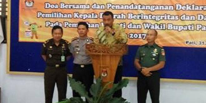 Dandim 0718/Pati Menghadiri Deklarasi Pemilihan Kepala Daerah
