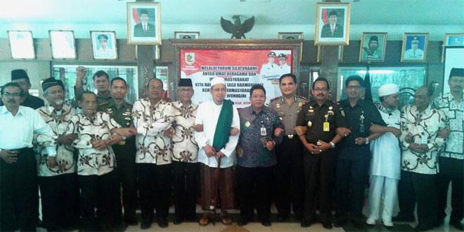 Dandim 0728/Wonogiri Silaturahmi Antar Umat Beragama dan Masyarakat Wonogiri