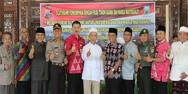Dandim 0714/Salatiga Menghadiri Acara Silatirahmi Forkopinda dan FKUB Kabupaten Semarang