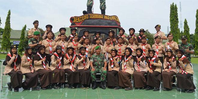 Penutupan Latihan Pembekalan Pemahaman Bela Negara SMAN 2 Brebes Brigif-4/Dewa Ratna