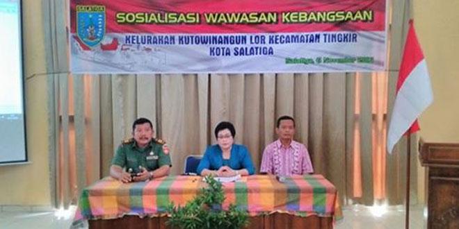 Danramil 16/Tingkir Memberikan Materi Wawasan Kebangsaan Kepada Warga Kecamatan Kutowinangun Kota Salatiga