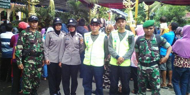 Koramil 07/Ngemplak dan Polsek Turut Mensukseskan Prosesi Kirab Ki Ageng Wonolelo