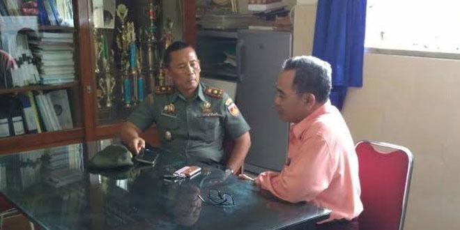 Danramil 12 Gondomanan Bersilaturohmi Dengan Kepala Sekolah SMA N 10 Yogyakarta