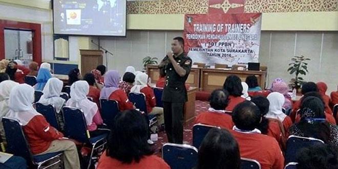 Wawasan Kebangsaan Melalalui Para Guru Paud Se Kota Surakarta oleh Kasdim 0735/Surakarta
