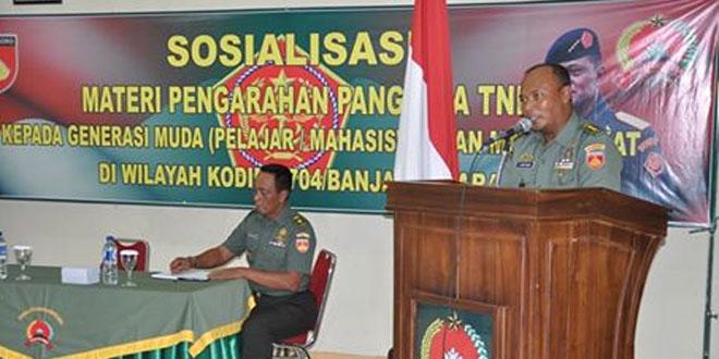 Sosialisasi Pengarahan Panglima TNI oleh Kasrem 071/Wijaya Kusuma
