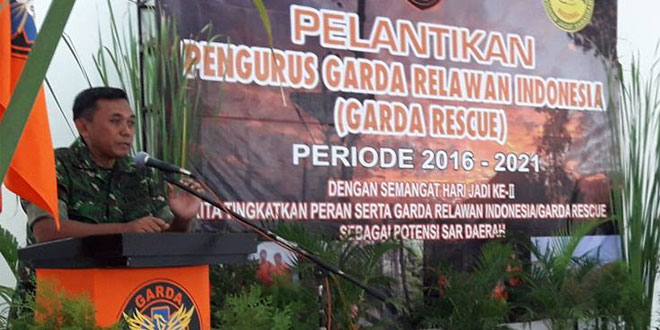 Dandim 0705/Magelang Lantik Pengurus Garda Relawan Indonesia