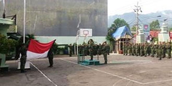 Kodim 0728/Wonogiri Upacara Minggu Militer