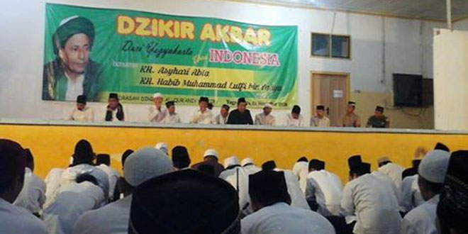 Babinsa Koramil 11/Kraton Menghadiri Undangan Dzikir Bersama dari Jogja untuk Indonesia