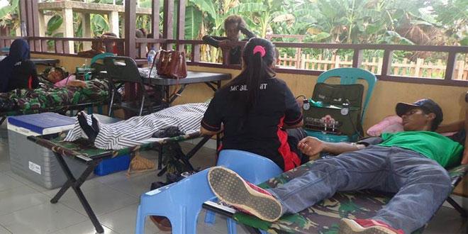 Donor Darah di Kampung Toray Distrik Sota Kab. Merauke