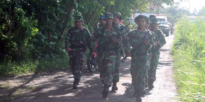 Anggota Korum Yonif 407/PK Melaksanakan Kegiatan Latihan Ton Beranting