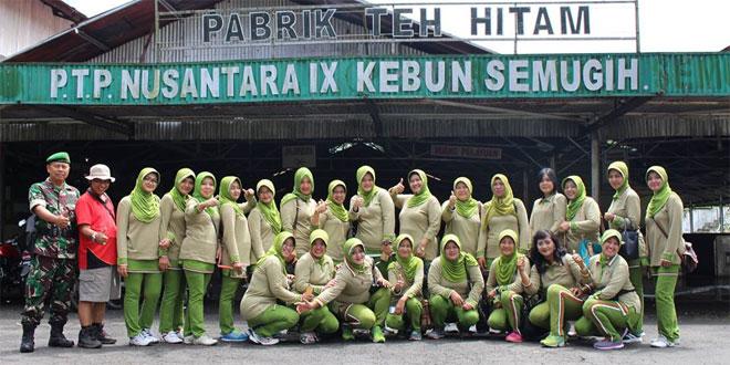 Persit KCK Cab XXI Kodim 0711/Pemalang Melakukan Kunjungan ke PTP Nusantara IX Kebun Teh Semugih