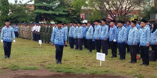 Upacara Bendera HUT Korpri Ke 45 di Alun-Alun Brebes