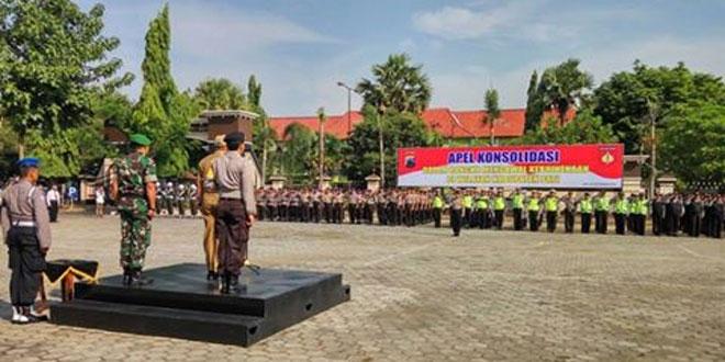 Polres Pati Bersama Jajaran Forkompinda dan Kodim 0718/Pati Menggelar Apel Gabungan