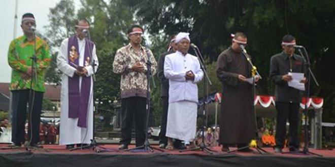 Apel Nusantara Bersatu di Alun-Alun Kota Wonosobo