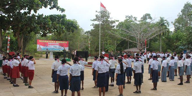Gerakan Nusantara Bersatu di Tapal Batas Ujung Timur Indonesia Pilar MM. 13 Sota