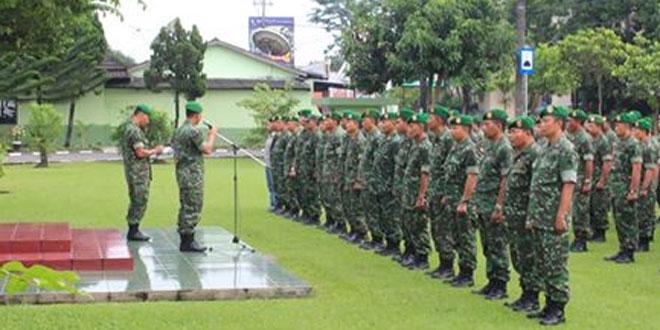 Prajurit Kodim 0734/Yogyakarta Melaksanakan PBB di Minggu Militer