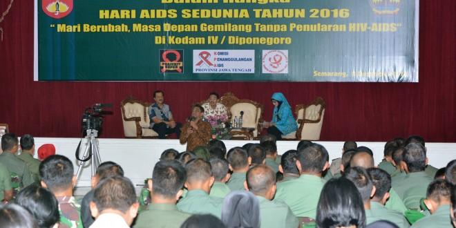 Peringati Hari AIDS Sedunia, Kodam IV/Diponegoro Selenggarakan Sosialisasi AIDS