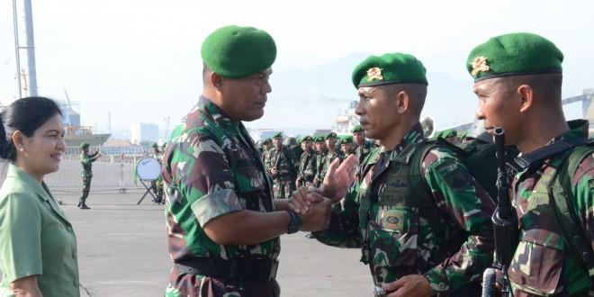 Yonif 403/WP Berangkat Amankan Wilayah Perbatasan RI-Malaysia