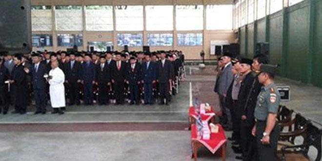 Dandim 0728/Wonogiri Hadiri Pengambilan Sumpah Janji Jabatan dan Pelantikan Pejabat Pimpinan Tinggi