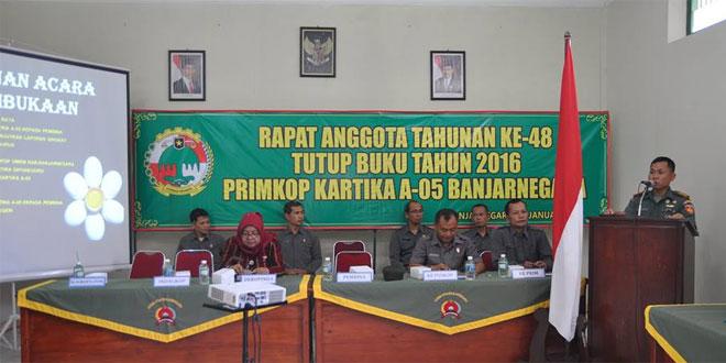 RAT Koperasi A.05 Kodim 0704/Banjarnegara