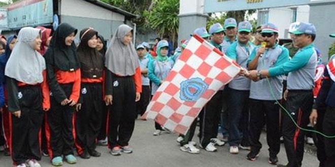 Kasdim 0713/Brebes Hadiri Gerak Jalan Sehat Hari Jadi Kabupaten Brebes Ke 339 Tahun 2017