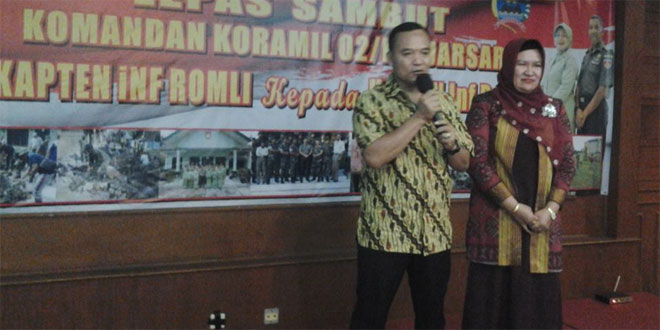 Lepas Sambut Pejabat Lama dan Baru Danramil 02 Kodim 0735/Surakarta