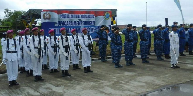 Anggota Kodim 0731/Kulon Progo Ikuti Peringatan Hari Dharma Samudera TNI AL
