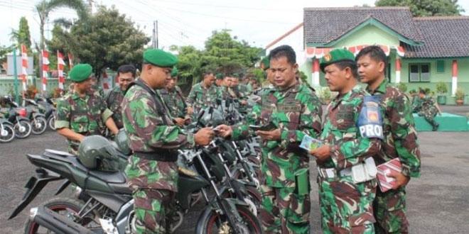 Kodim 0713/Brebes Melaksanakan Pengecekan Kelengkapan Kendaraan Dinas