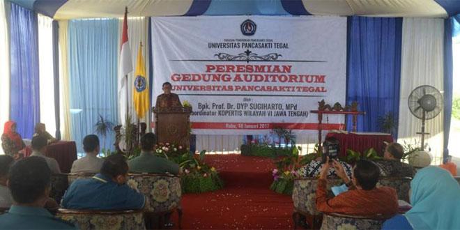 Kasdim 0712/Tegal Menghadiri Acara Peresmian Gedung Auditorium UPS Kota Tegal