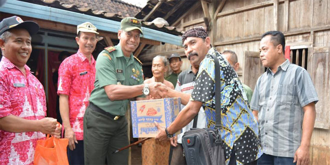 Dandim 0714/Salatiga Meninjau Lokasi Bencana Alam Tanah Longsor