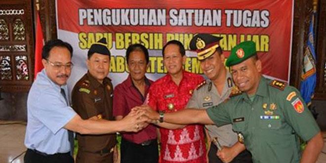 Acara Pengukuhan Satuan Tugas Bebas Pungli di Pendopo Kabupaten Semarang