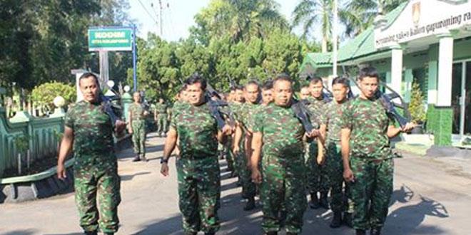 Prajurit Kodim 0731/KP Laksanakan Hanmars