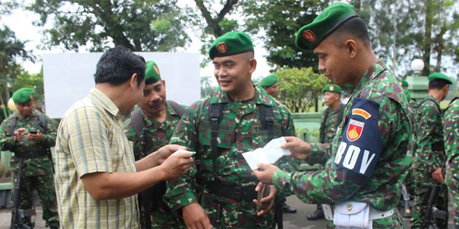 Ciptakan Tertib Berlalu Lintas Anggota Kodim 0731/KP Laksanakan Pemeriksaan