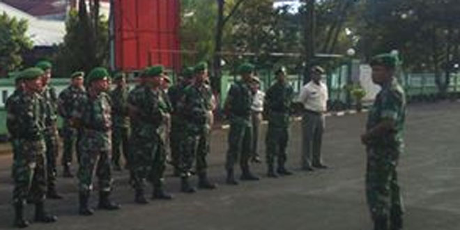 Kasdim 0703/Cilacap Pimpin Langsung Minggu Militer
