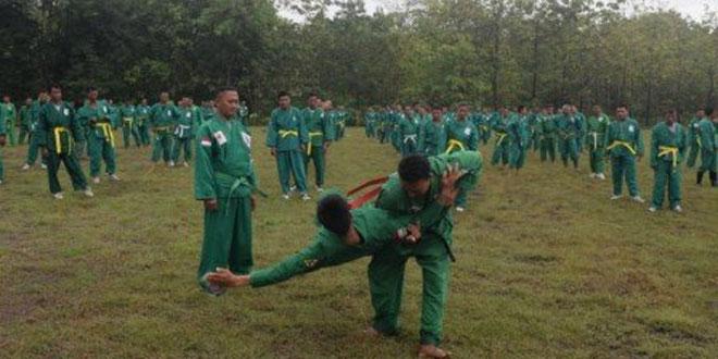 Prajurit Kodim 0723/Klaten Melaksanakan Latihan Beladiri Militer Yongmoodo