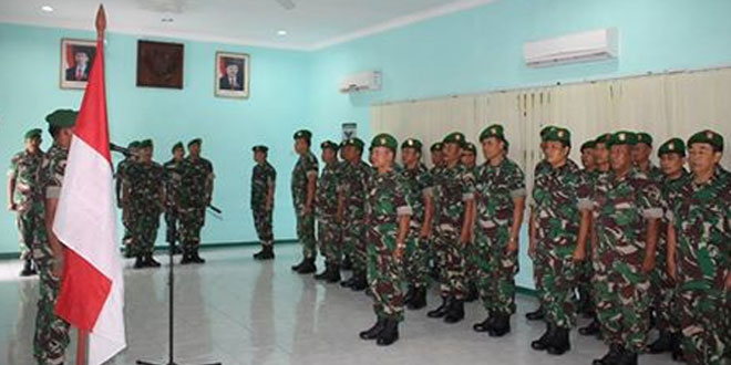 Laporan Serah Terima Jabatan Perwira Kodim 0725/Sragen
