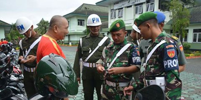 Tekan Pelanggaran dan Tingkatkan Dispilin Prajurit dan PNS TNI, Korem 071/Wk Gelar Gaktib