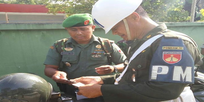 Denpom IV/IV Surakarta Memeriksa Puluhan Unit Kendaraan Anggota Kodim 0735/Surakarta