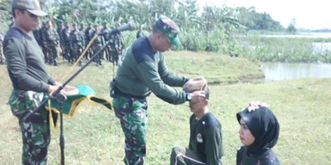 Tradisi Pembaretan PNS Jajaran TNI AD Kodim Pati Wujud Nyata Cinta NKRI
